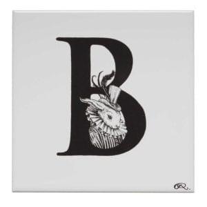 B - Bling Bunny Tile-0