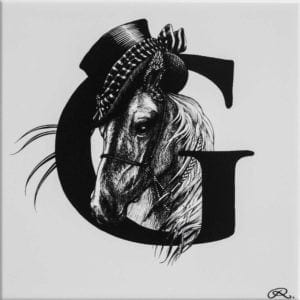 G - Gee Gee Horse Tile-0