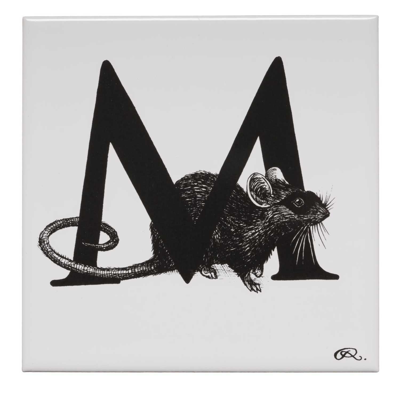 M - Masked Mousie Tile-0