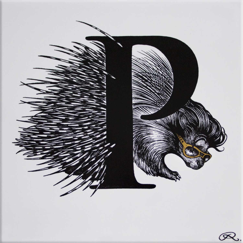 P - Presley Porcupine Gold Tile-0
