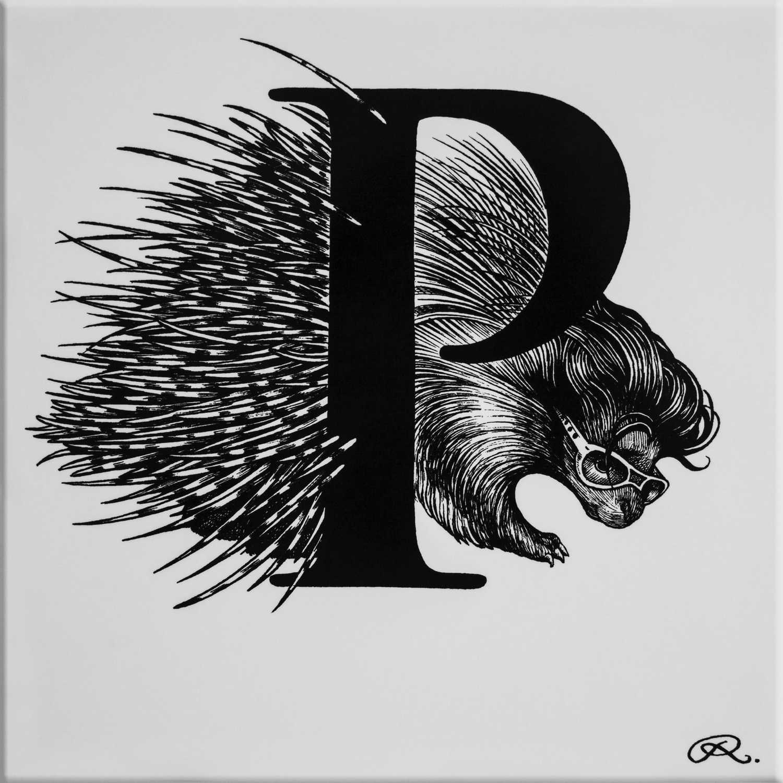 P - Presley Porcupine Tile -0