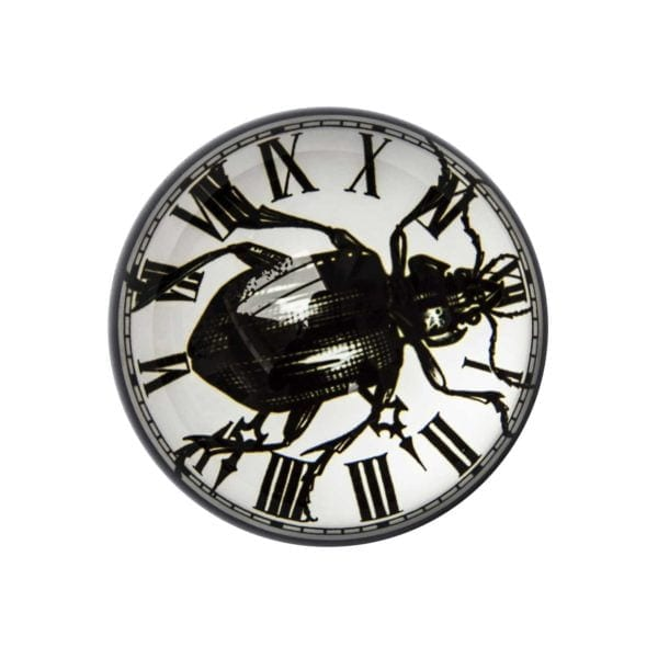 Beetleclock Paperweight Domed -0