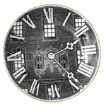 F&M Black Clock Small Plate-0
