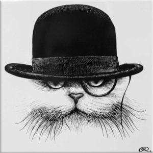Cat in Hat Down Tile-0