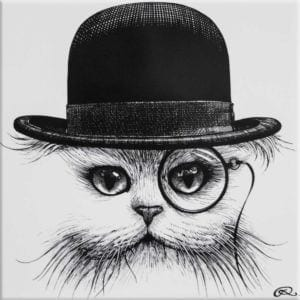 Cat in Hat Tile-0