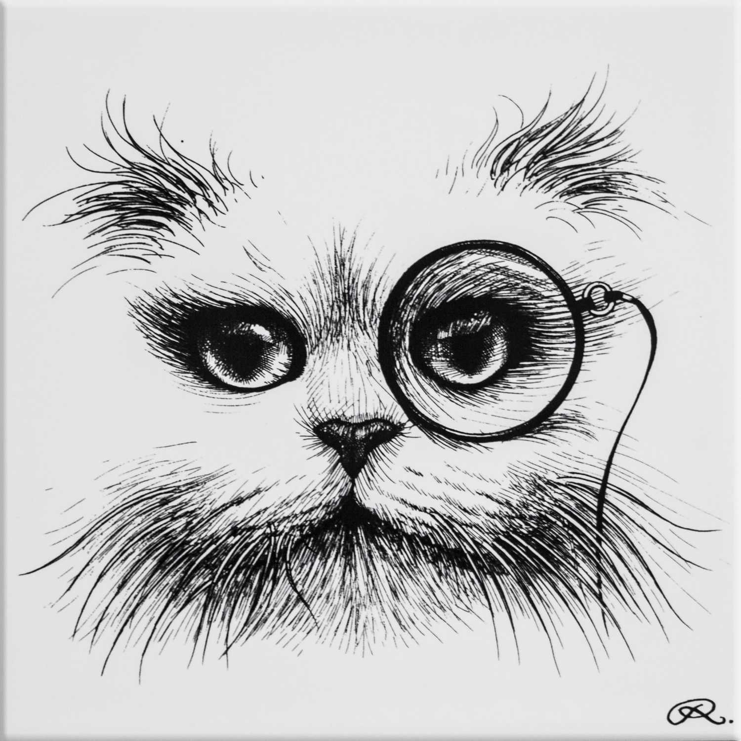 Cat Monocle Tile-0