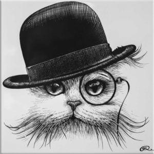 Cat in Hat Tilt Tile-0