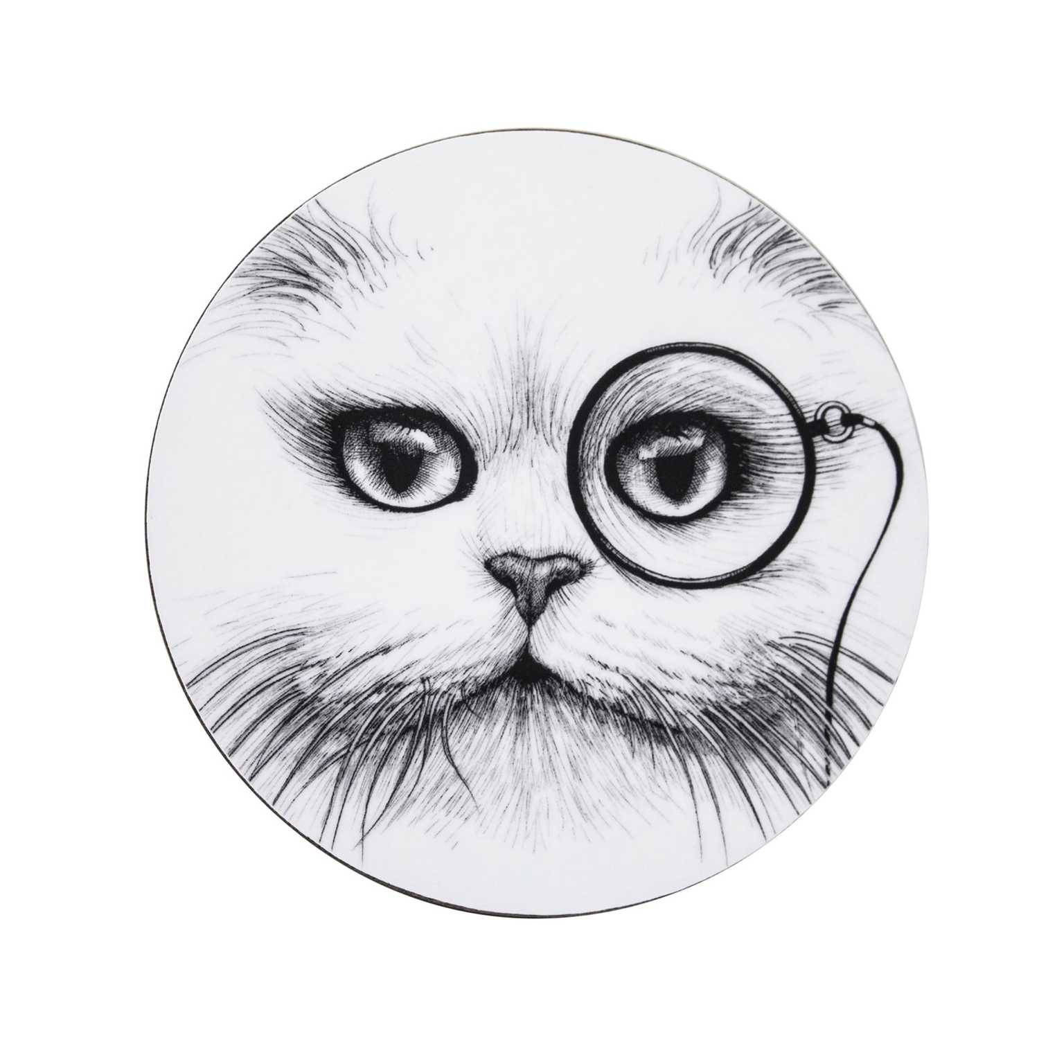Cat Monocle Coasters (Set of 4)-0