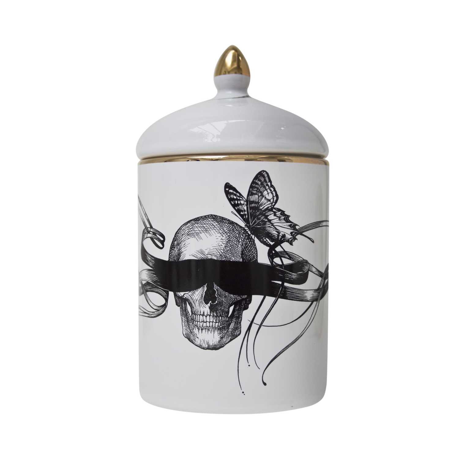 Masked Skull / Time Flies Cosy Candle-0