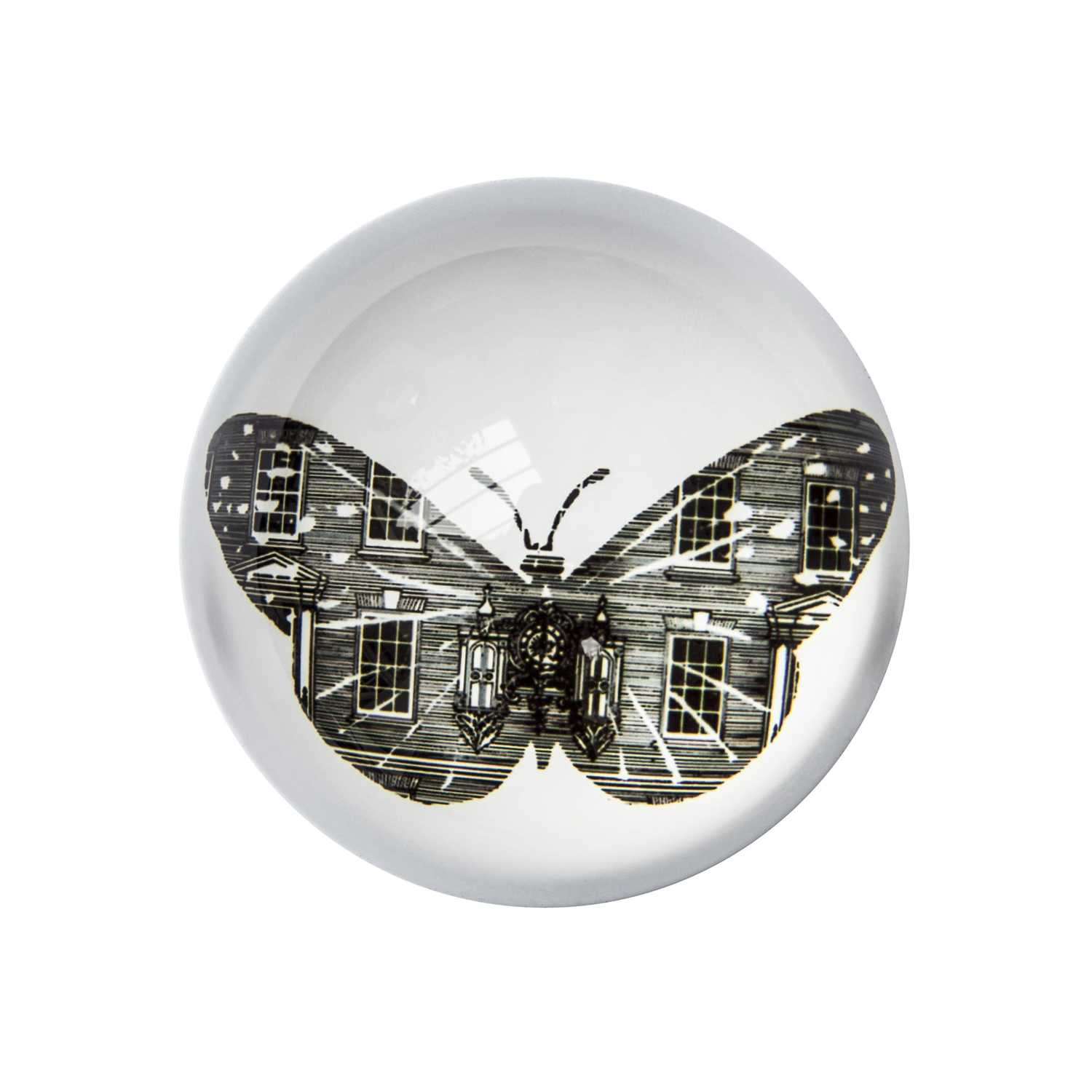 F&M Butterfly Paperweight Domed -0