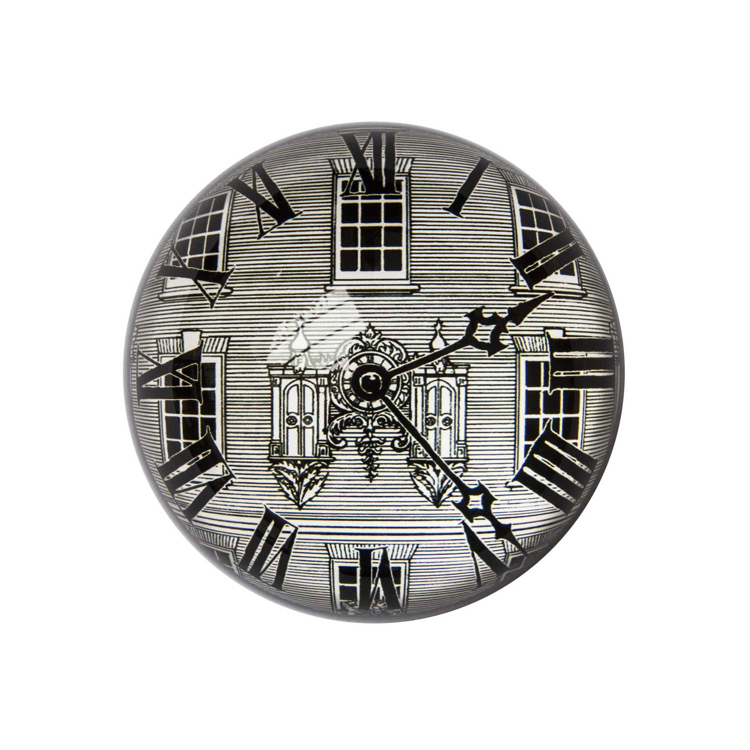 F&M Clock Paperweight Domed -0