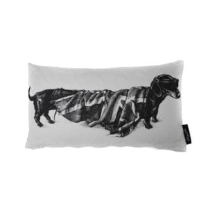 Hot Dog Flag/Stripey Cushion White-0