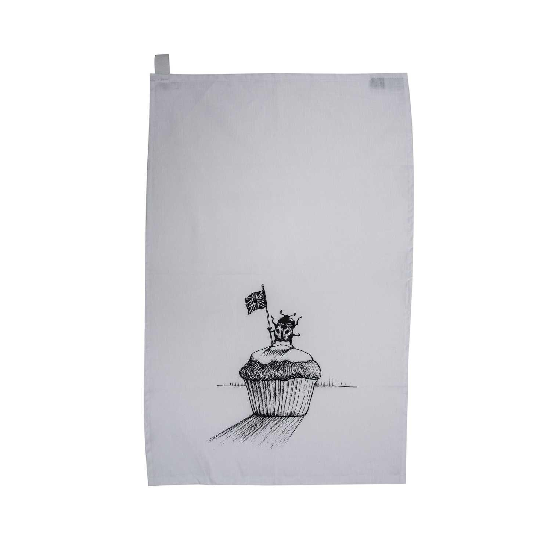 Ladybird Cupcake Tea Towel-0