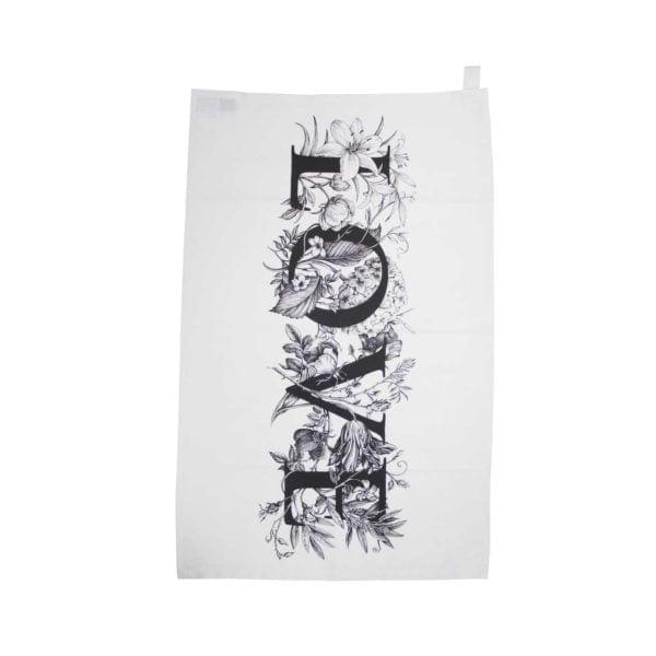 Love Flowers Tea Towel-0