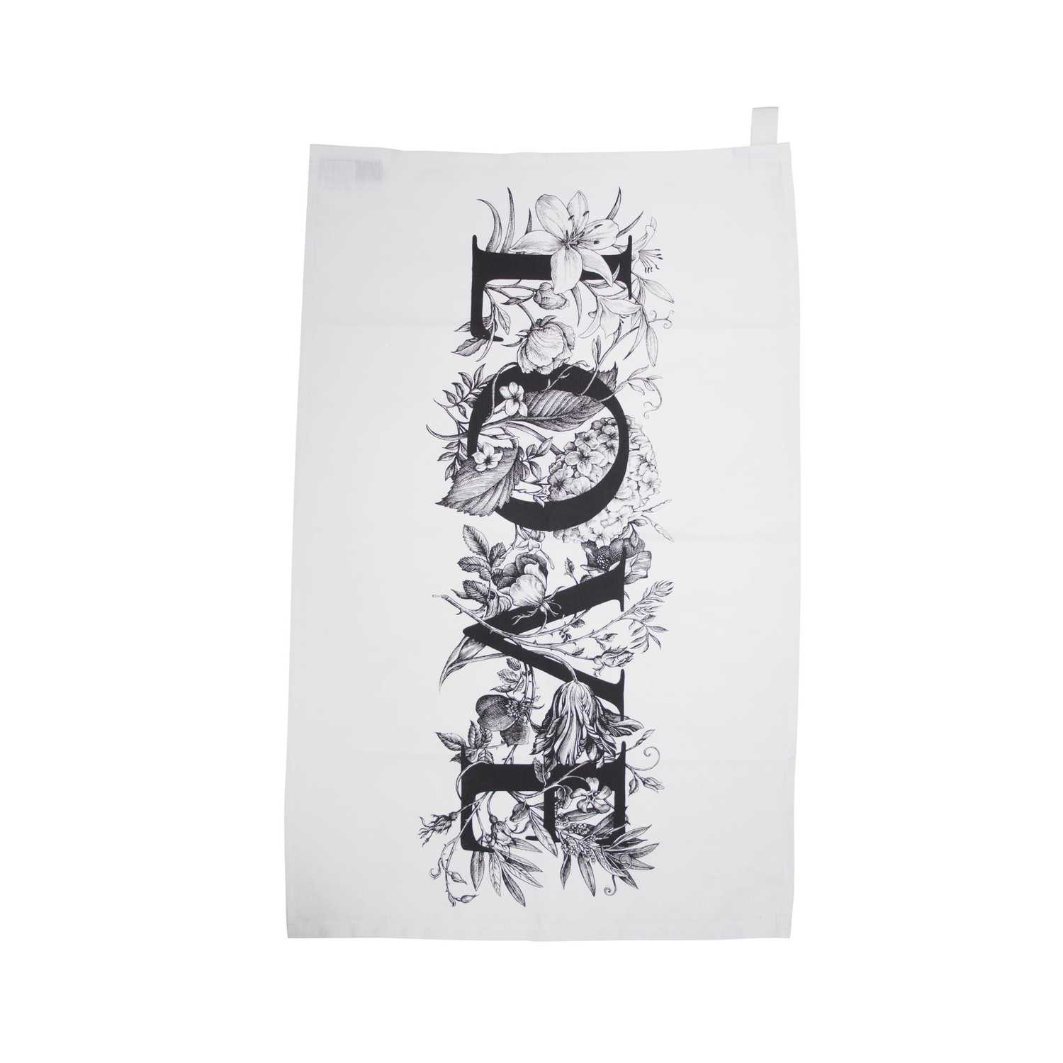 Love Flowers Tea Towel-0