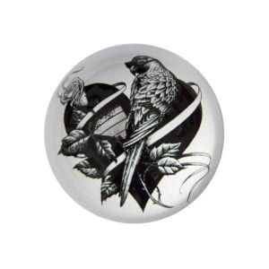 Lovebird Paperweight Domed -0