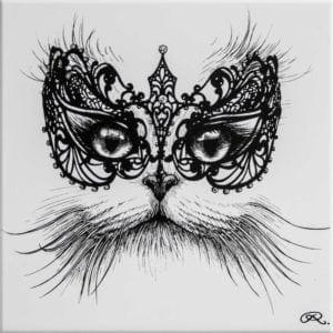 Masked Cat Tile-0