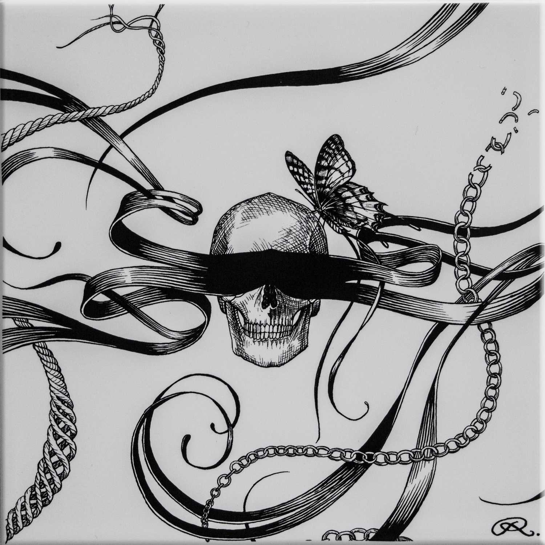 Masked Skull Tile-0