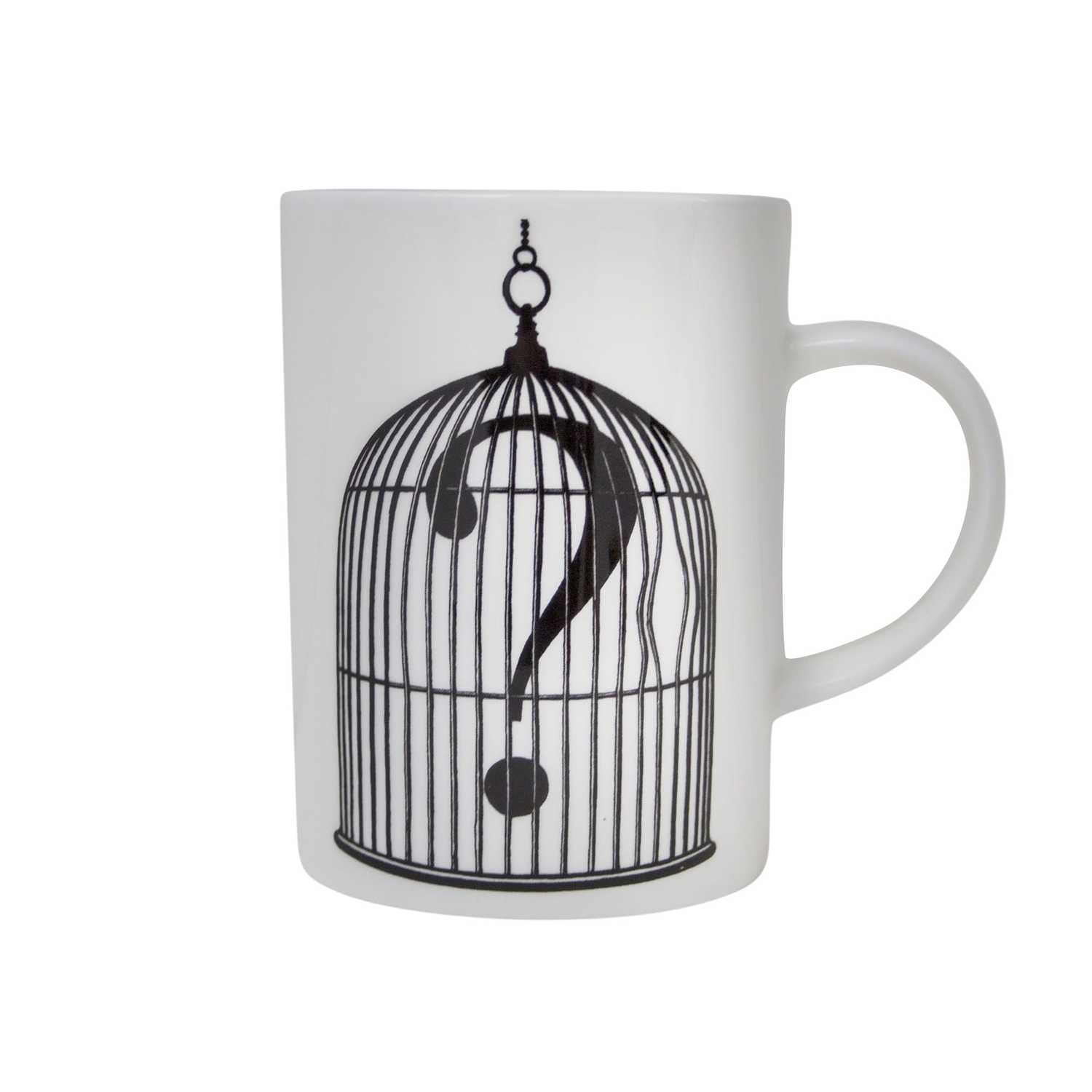 Question Mark Birdcage Marvellous Mug-0