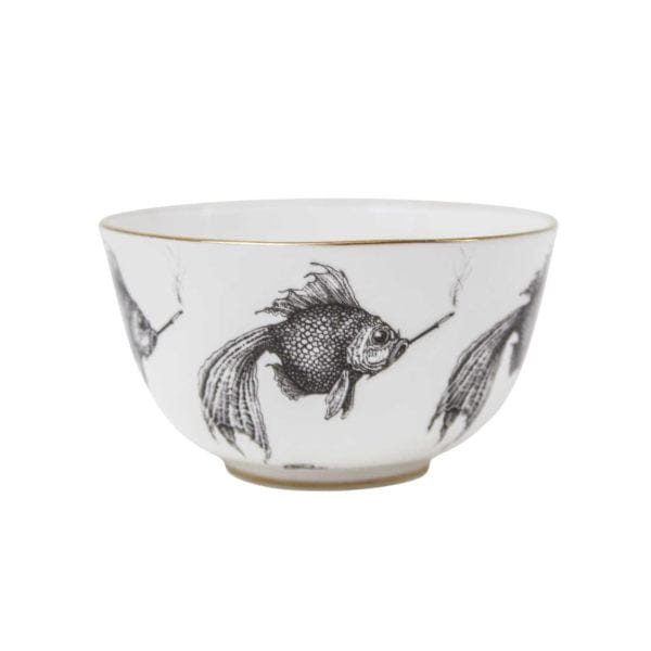 Smokey fish bowl small for Mini fish bowls