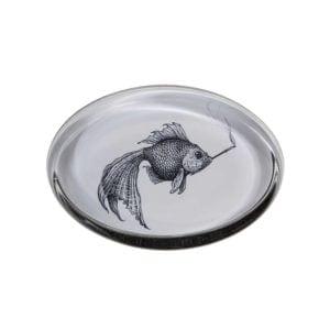 Smokey Fish Paperweight Oval -0