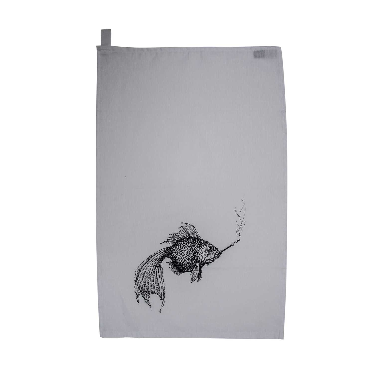 Smokey Fish Tea Towel-0