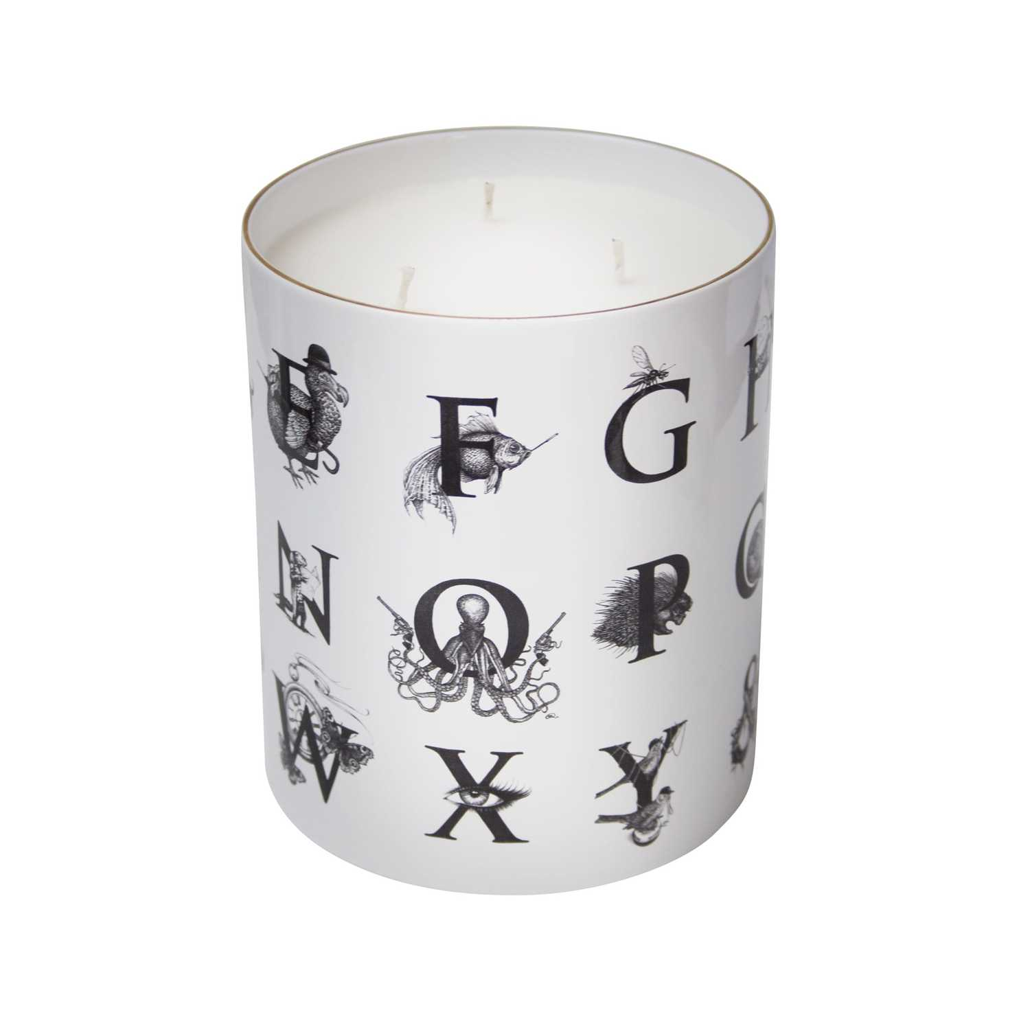 Supersize Alphabet Candle-0
