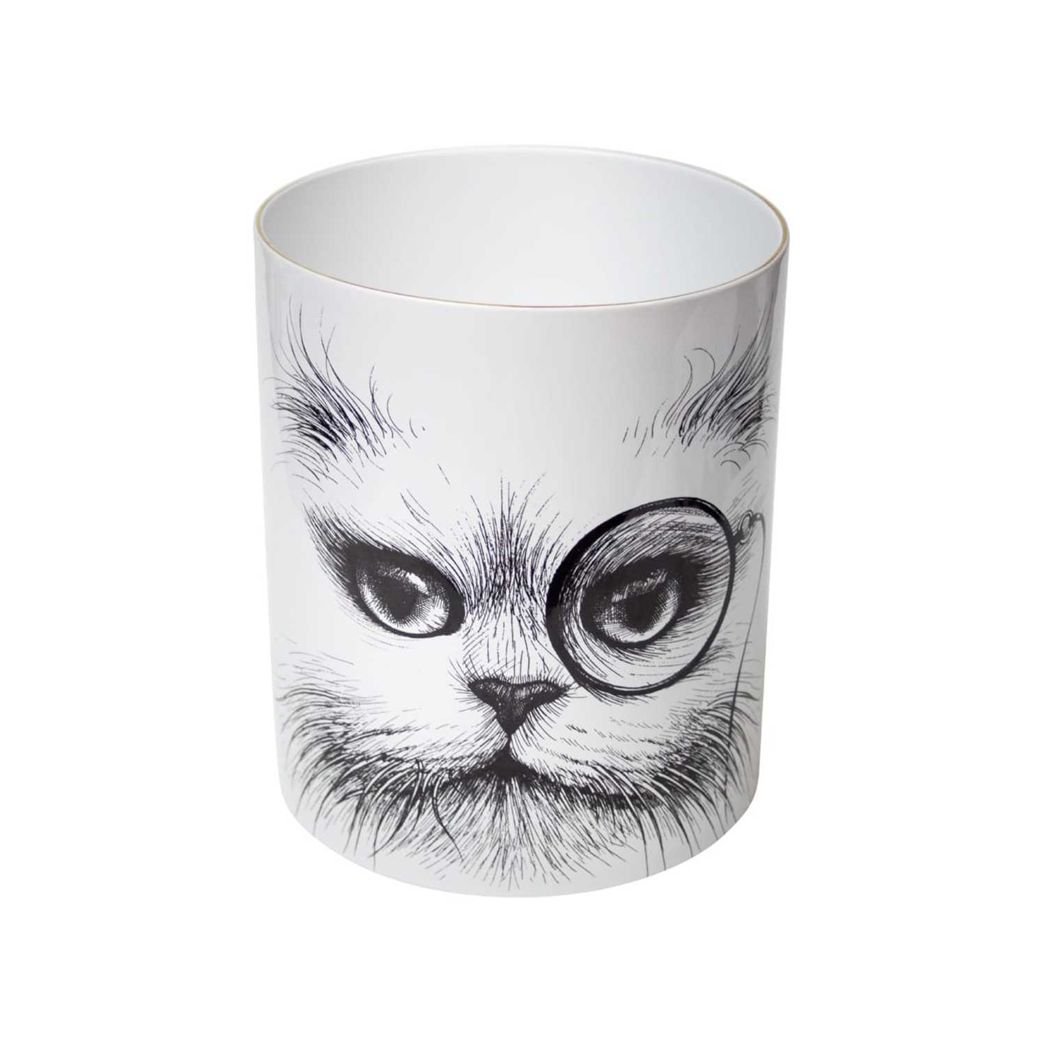 Supersize Cat Monocle / Cat No Monocle Vase-0