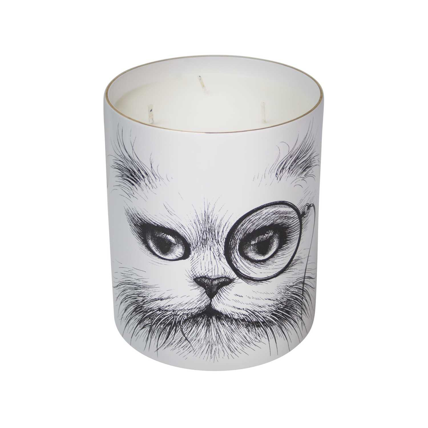 Supersize Cat Monocle / Cat No Monocle Candle-0