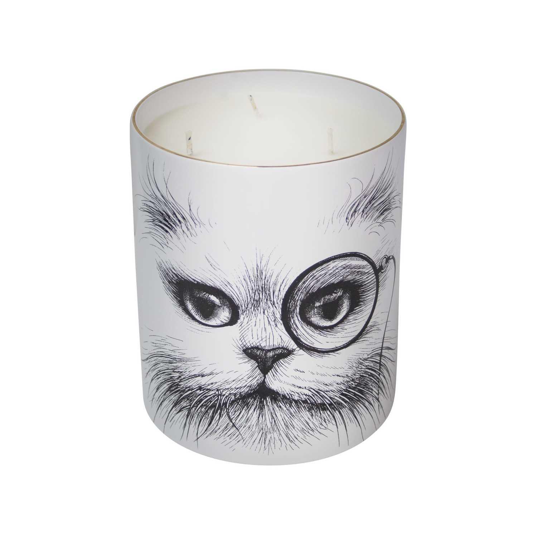 Supersize Cat Monocle / Cat No Monocle Candle-0