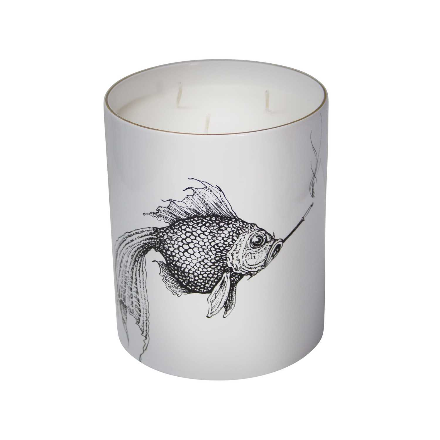 Supersize Smokey Fish Candle-0