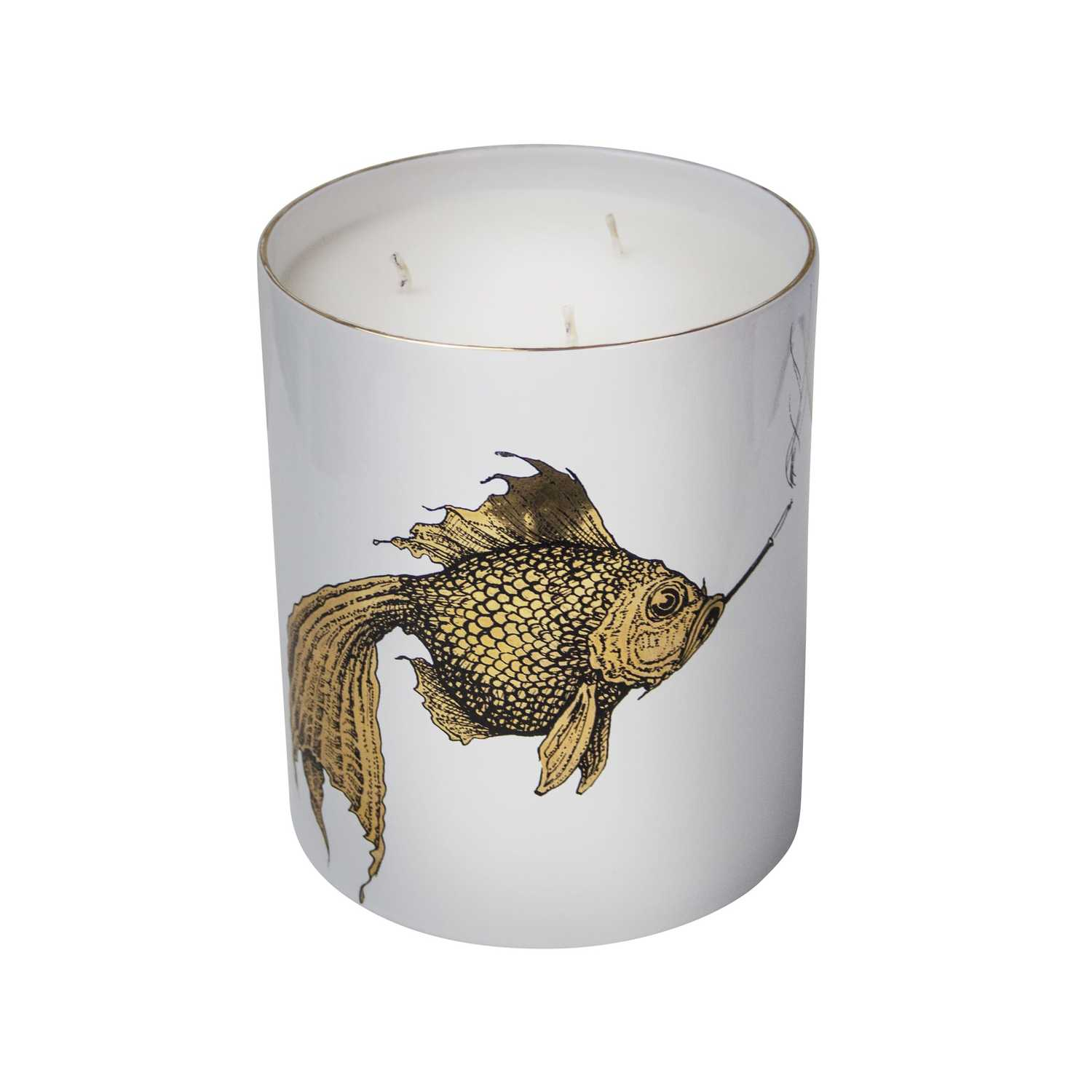 Supersize Smokey Gold Fish Candle-0