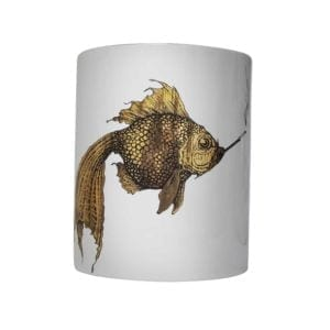 Supersize Smokey Gold Fish Vase-0