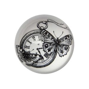 Time Flies Paperweight Domed -0