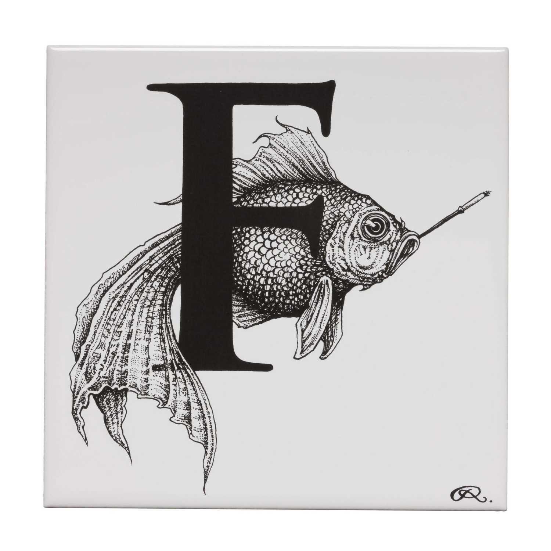 F - Fish On A Fag Break Tile-0