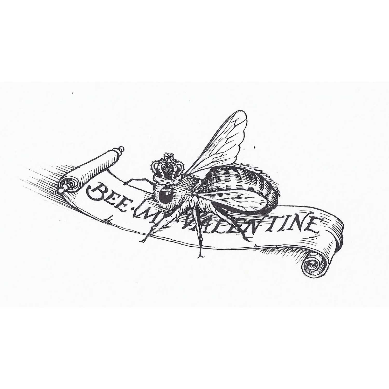 Bee My Valentine Intricate Ink-0