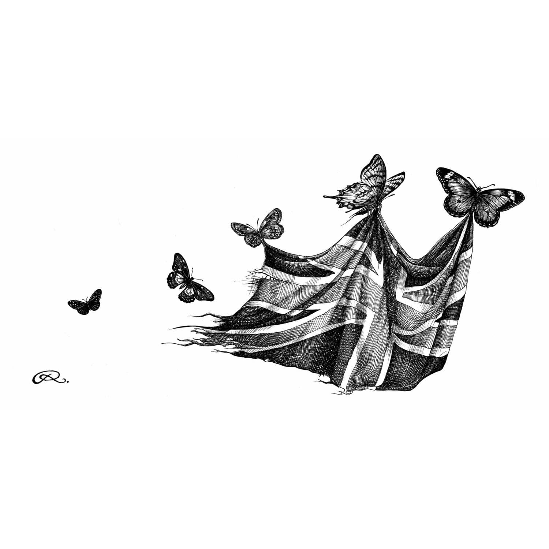 Bootiful Butterflies Intricate Ink Print-0