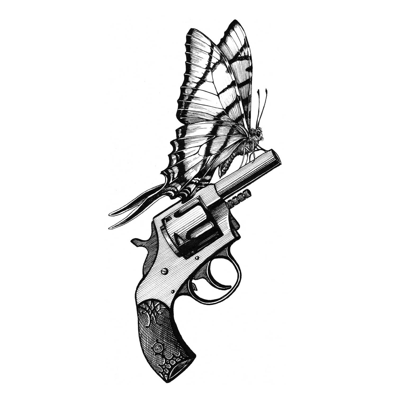 Bullet Proof Intricate Ink Print-0