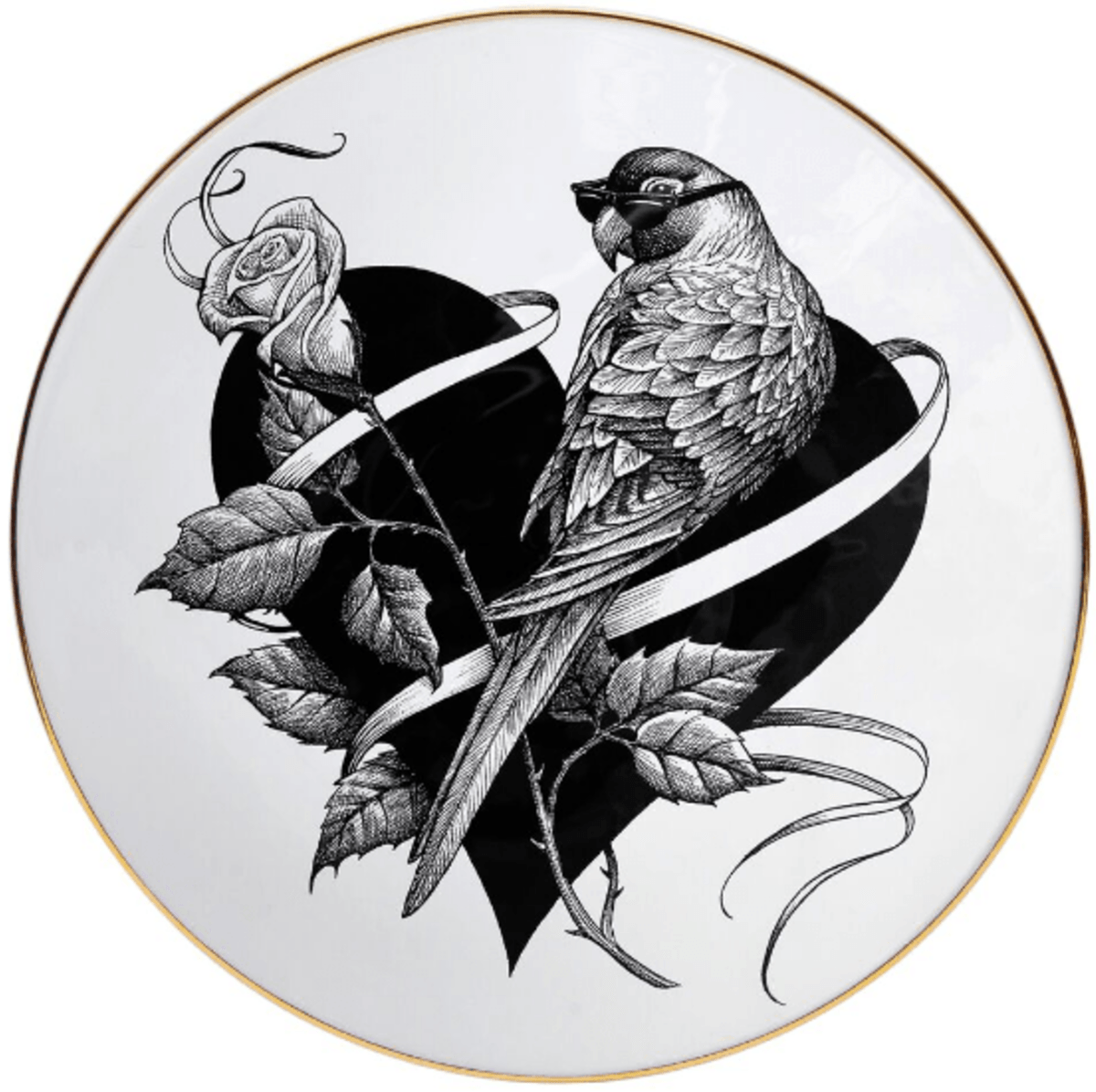 Lovebird Plate Coaster