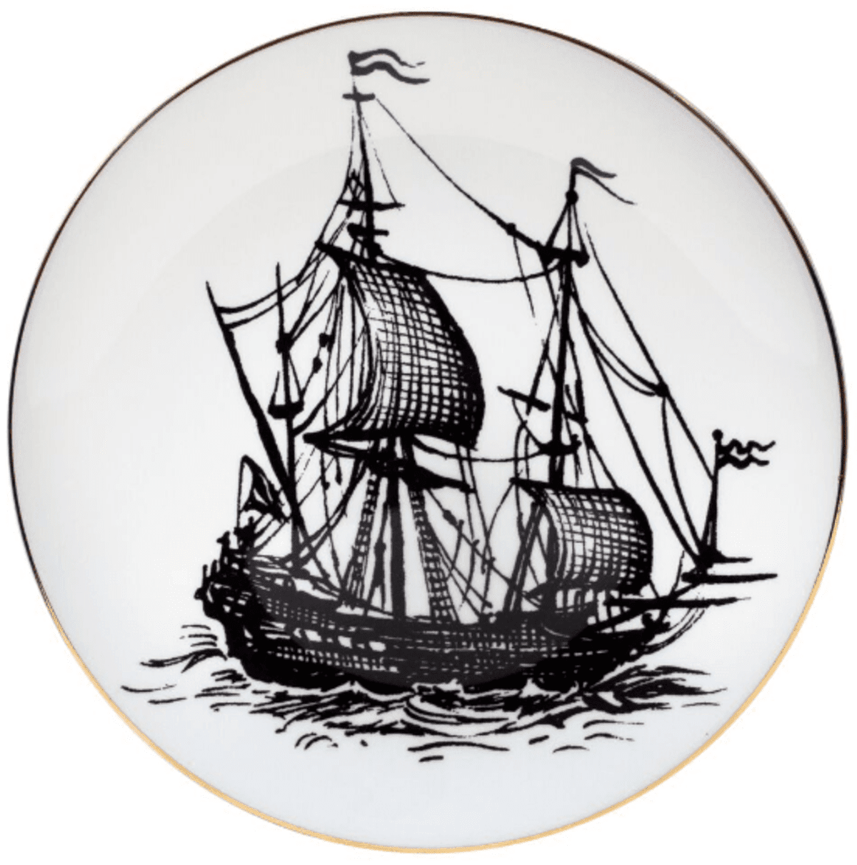 Pirate Ship Plate Coaster