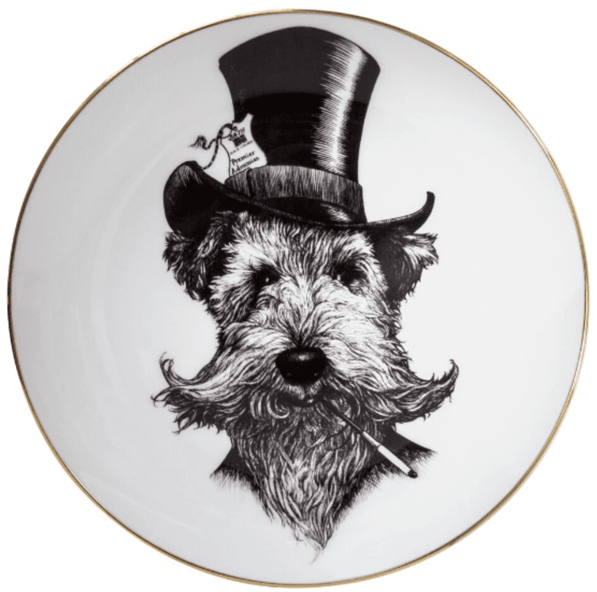 Sir Lancelot Dog Plate Coaster