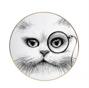 Cat Monocle Plate-0