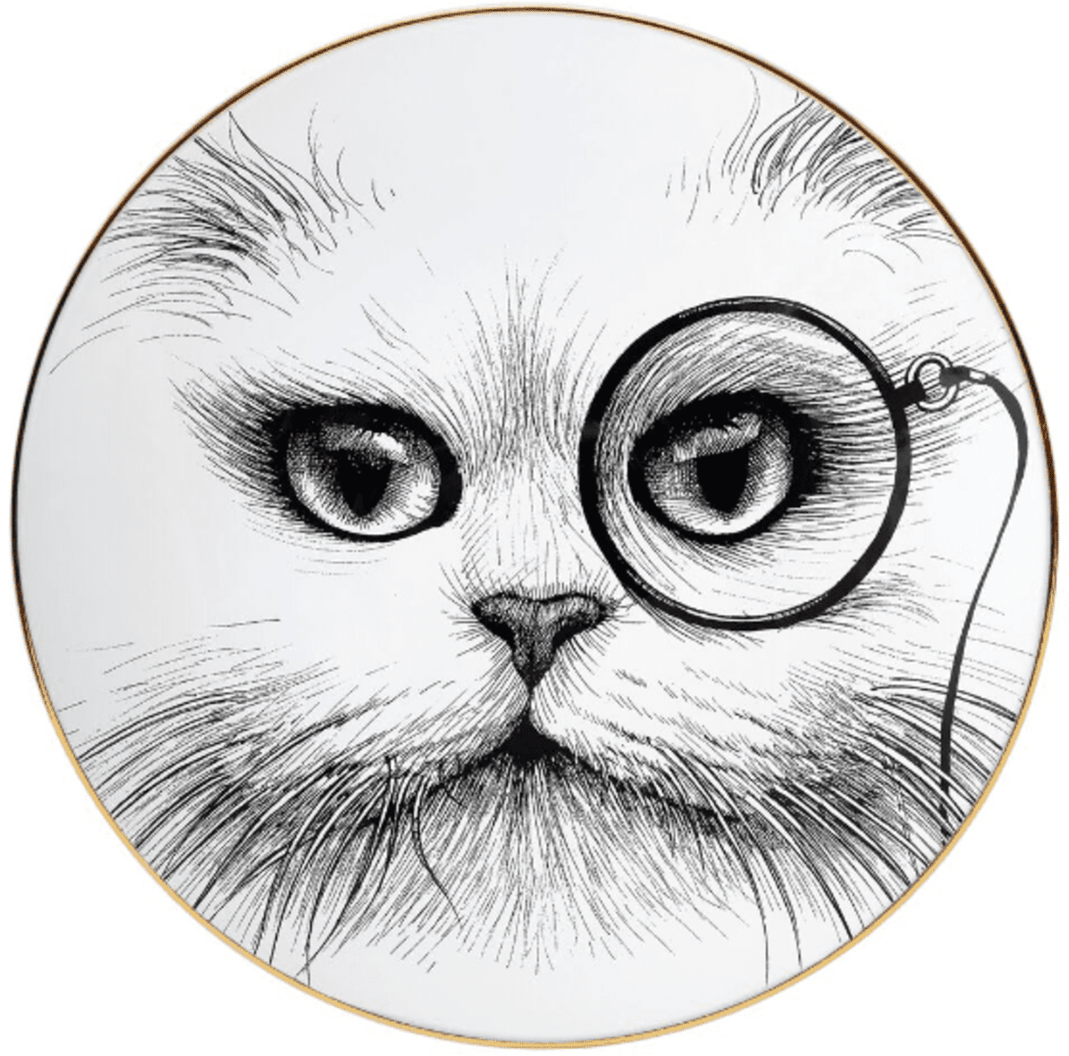 Cat Monocle Plate Coaster