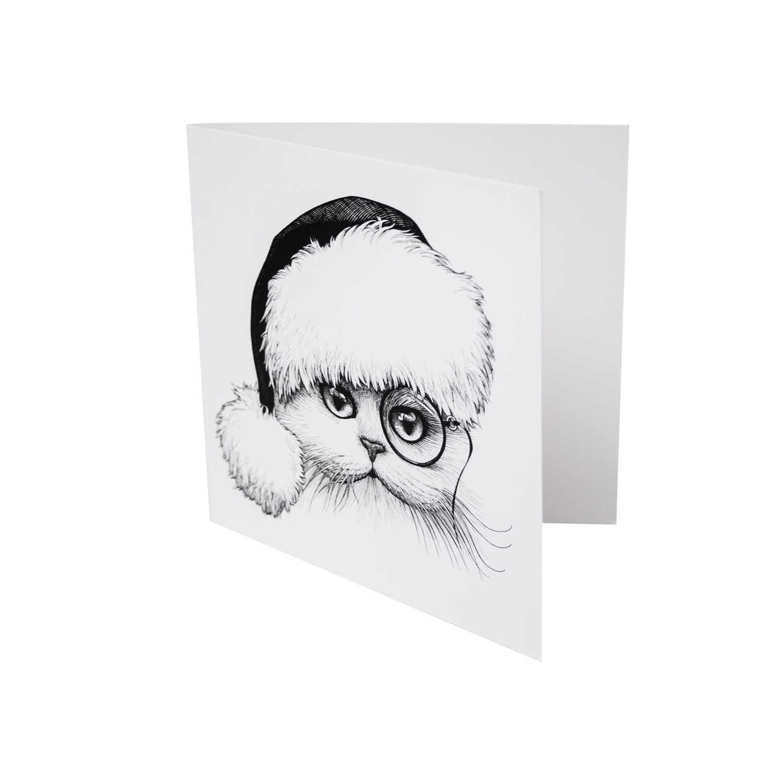 Santa Cat Card-0