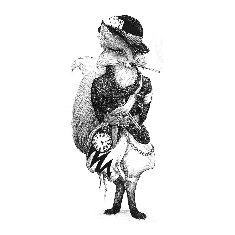 Fantastic Mr Fox Intricate Ink Print-0