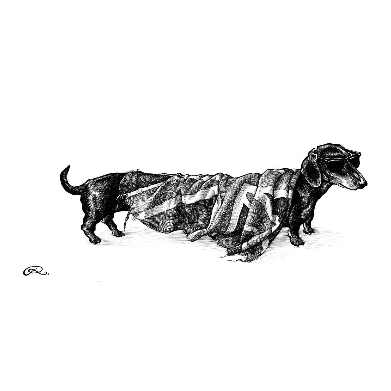 Hot Dog Union Intricate Ink Print-0