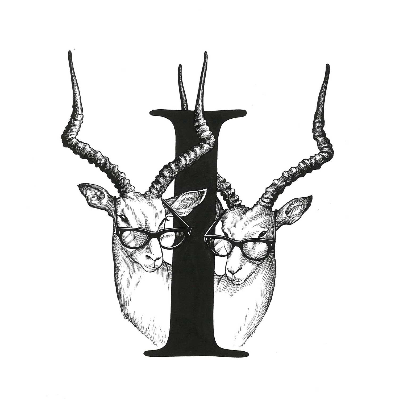 I - Intellectual Identical Impala's Intricate Ink Print-0