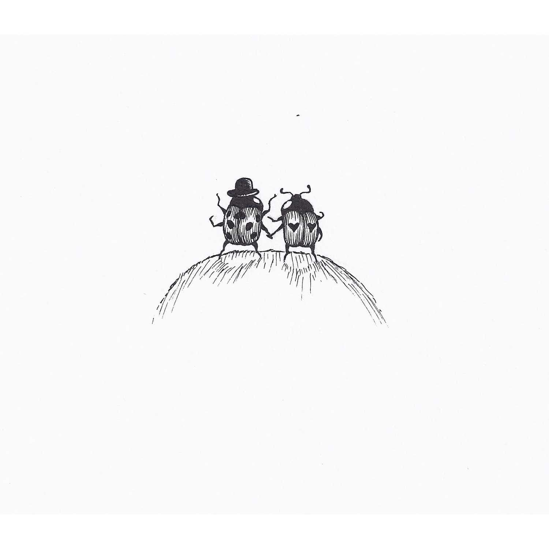 Ladybird Love Intricate Ink Print-0