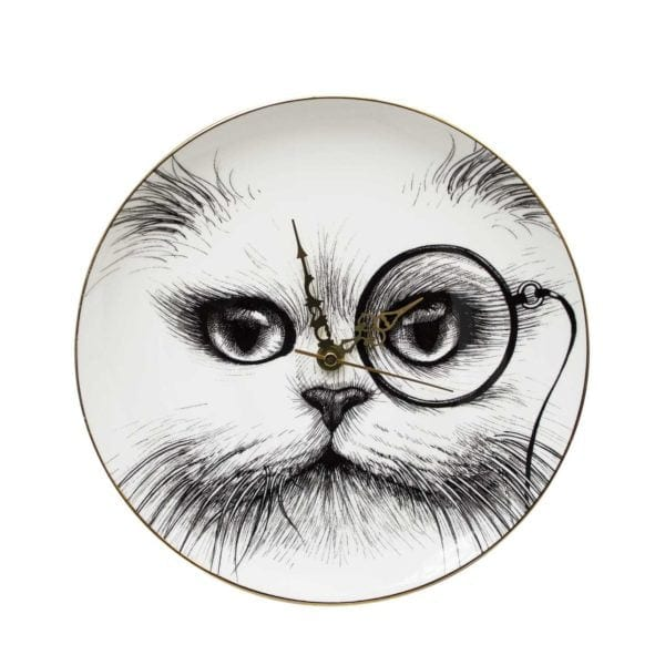 Cat Monocle Clock-0