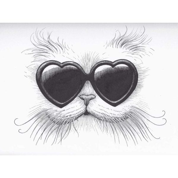 Love Cat Intricate Ink-0